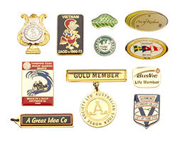 Scotia Engraving; A collection of metal badges